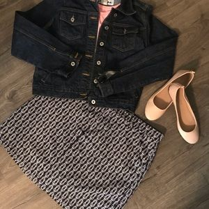 Navy and White skort with pockets